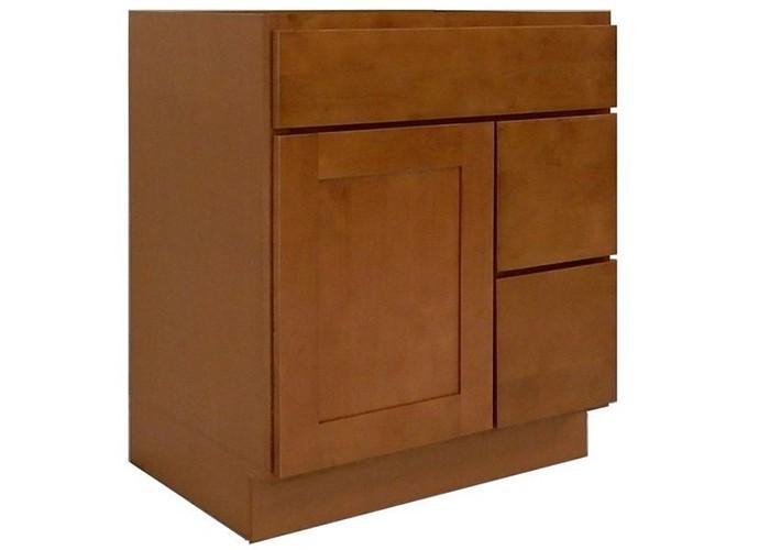 Honey Shaker Solid Wood Kitchen Bright Vanity Cabinet