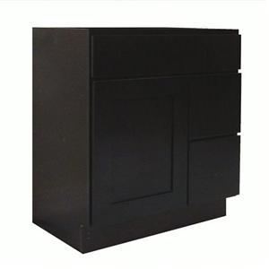 Espresso Maple Modular Bathroom Wooden Vanity Cabinet