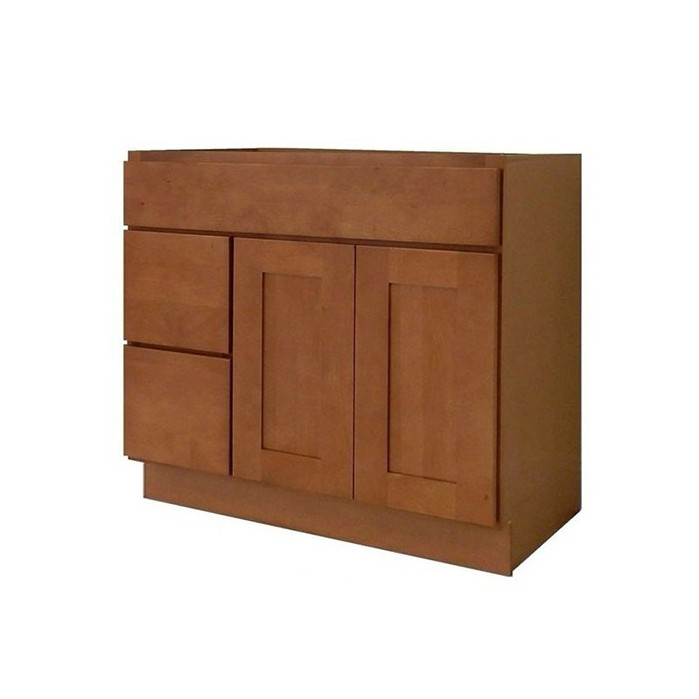 Honey Shaker Solid Wood Kitchen Bright Vanity Cabinet