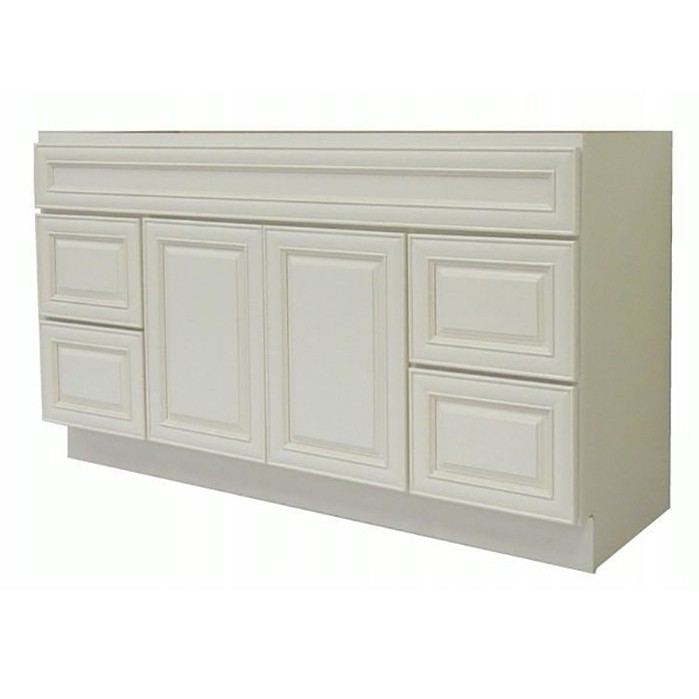 Antique White Modular Bathroom Glazed Vanity Cabinet