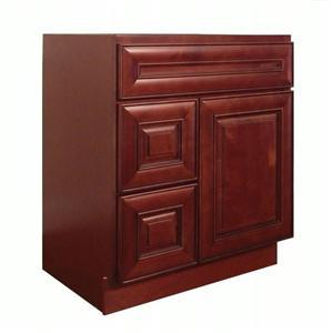 Dark Cherry Solid Wood Bathroom Classic Vanity Cabinet