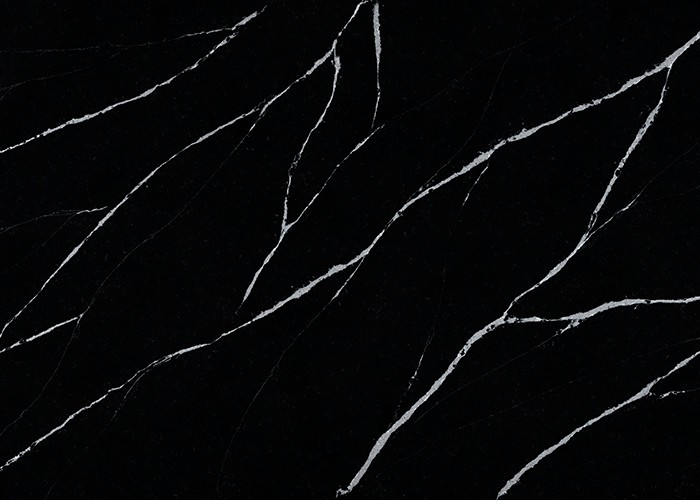 Eternal Marquina Quartz Deep Dark Kitchen Countertop Bathroom Top