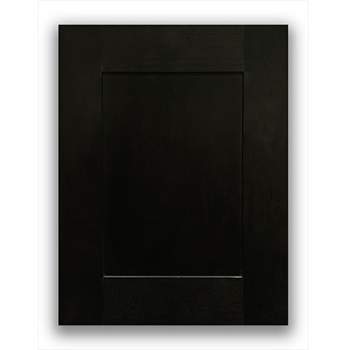 Charcoal Black Laundry Room All Wood Kitchen Cabinet