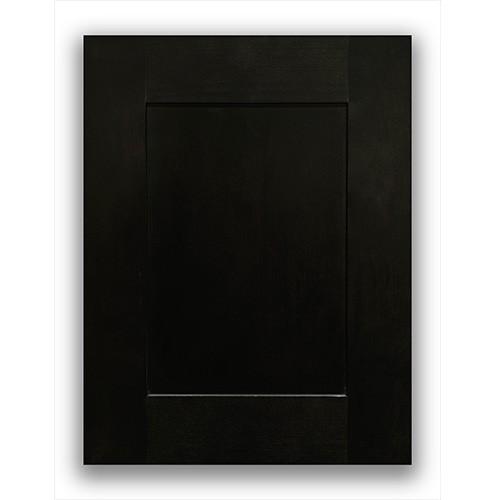 木炭黑色洗衣房全实木厨柜