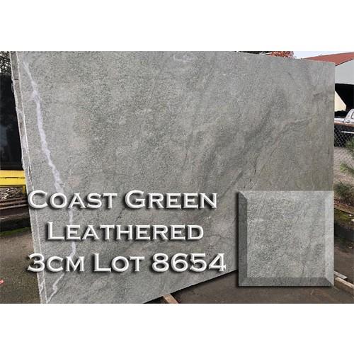 Coast Green Leathered Granite Unique Kitchen Countertop Vanity Top
