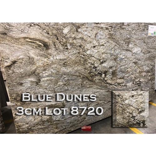 Blue Dunes Granite Earth Tone Kitchen Countertop Bathroom Vanity Top