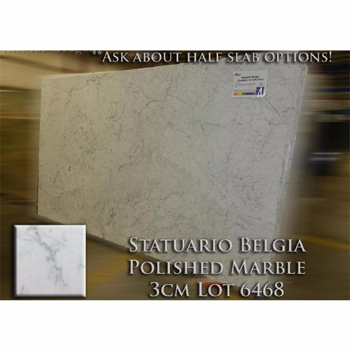 Statuario Belgia Marble Simple Kitchen Countertop Solid Vanity Top