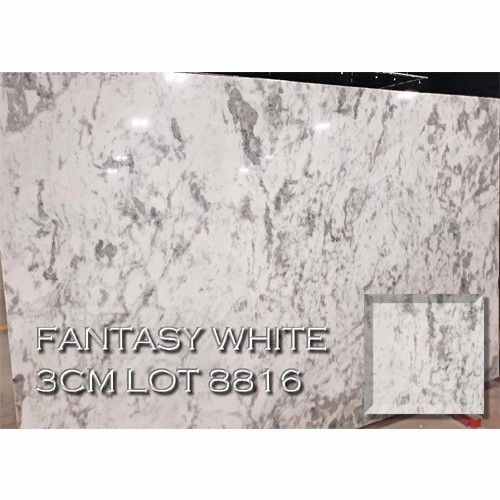 Fantasy White Marble Elegant Kitchen Countertop Bathroom Vanity Top