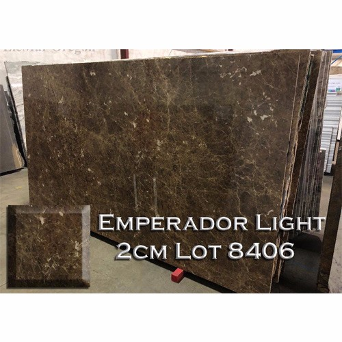Emperador Light Marble Neutral Kitchen Countertop Bathroom Top