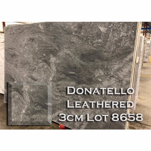 Donatello Leathered Marble Earth Tone Kitchen Top Vanity Countertop