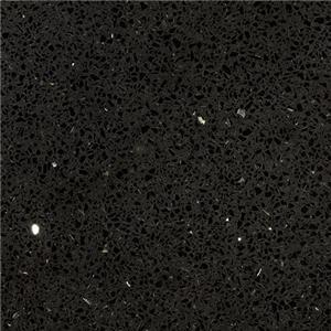 Sparkling Black Quartz Elegant Kitchen Top Solid Bathroom Countertop