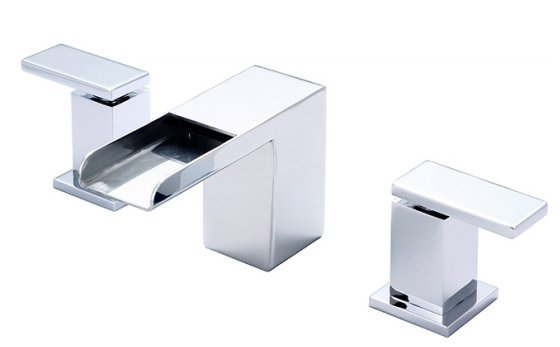 Widespread Two Handle Lavatory Faucet Contemporary Vanity Faucet