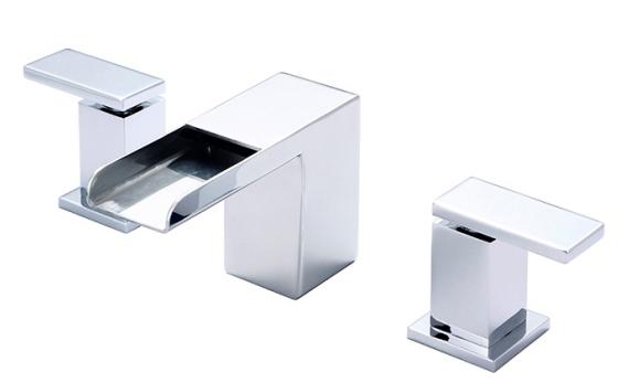 Meluas Dua Handle Lavatory Faucet Kontemporer kesombongan Faucet
