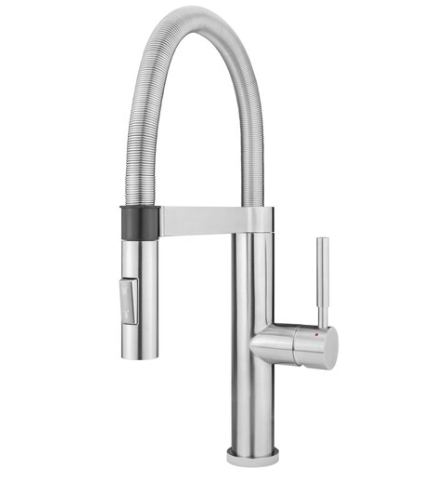 Stainless Steel Magnetic-Docking Kitchen Faucet