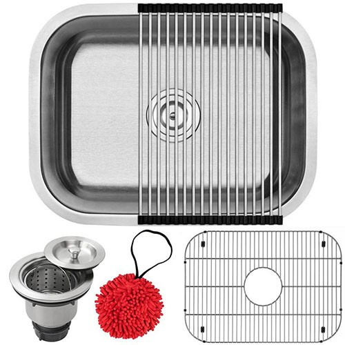 18-Gauge Stainless Steel Single Basin Simple Rectangular Kitchen Sink