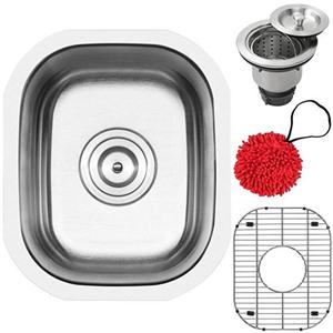 16-Gauge Stainless Steel Classic Single Basin Kitchen And Bar Sink