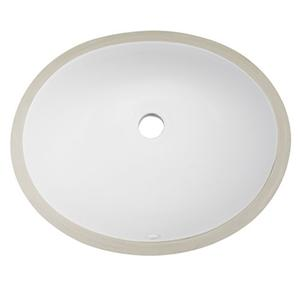 Klasik Oval Basin Keramik Undermount Simple kesombongan Sink