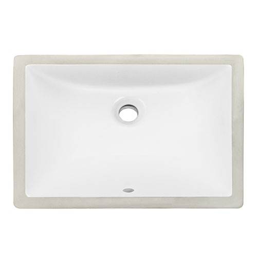 Klasik Rectangular Desain Sink Keramik Undermount Simple kesombongan Sink
