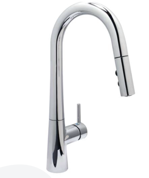Single Handle Pull-down Sprayer Kontemporer Kitchen Faucet
