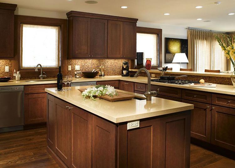 mocha maple cabinet