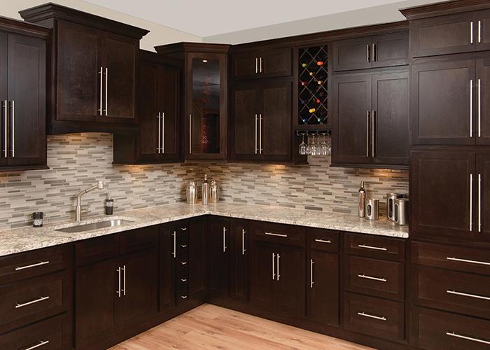 espresso maple cabinet