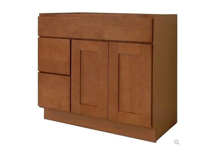 bright vanity cabinet