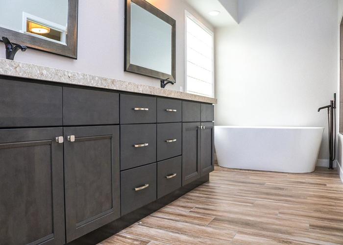 greige maple cabinet