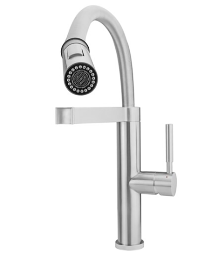 Stainless Steel Stylish Modern Pull-Down Kitchen Faucet