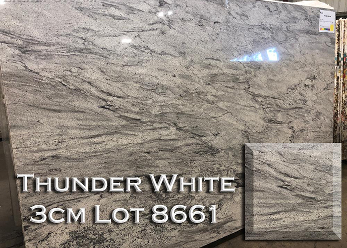 thunder white granite countertop