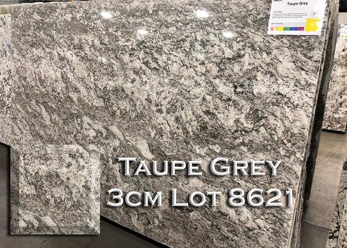 taupe grey granite countertop