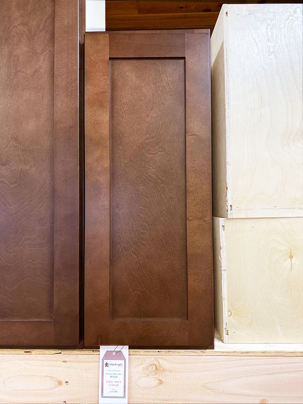 Mocha Maple Wall Cabinet W1230 UP TO 75% OFF