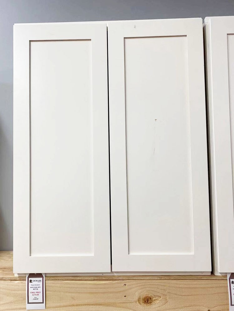 White Pearl Wall Cabinet W2736 UP TO 75% OFF