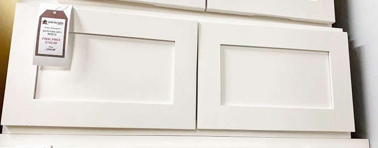 White Pearl Wall Cabinet W3312 UP TO 75% OFF
