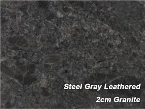 2cm Granite Steel Gray Leathered