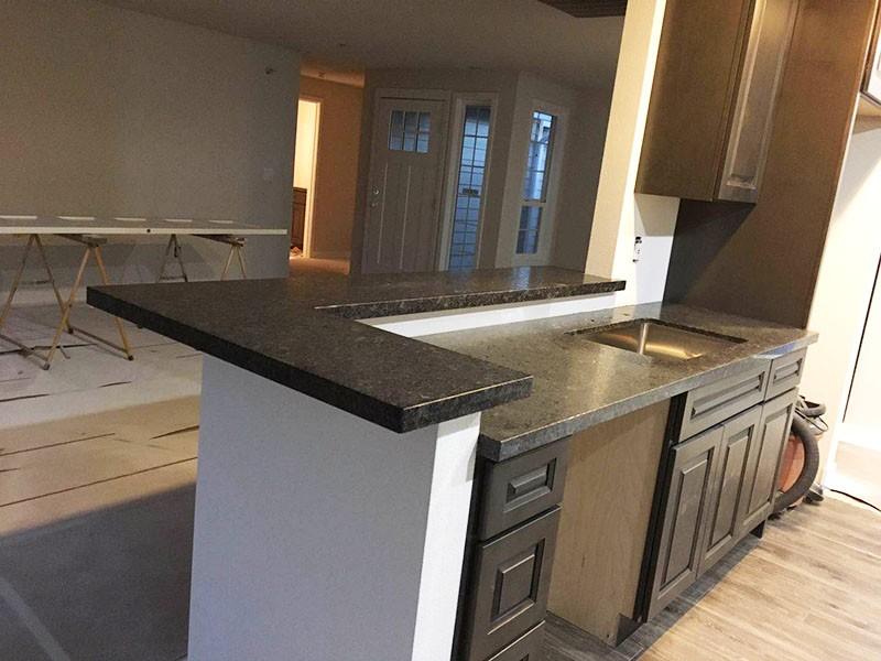 2cm Granite Steel Gray Leathered