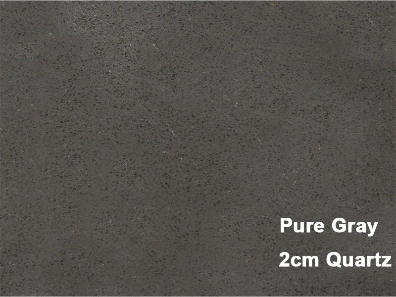 2cm Quartz Pure Grey