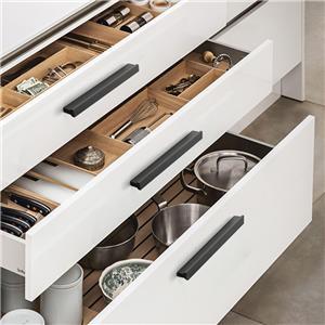Furniture Aluminium Accessories Black Wardrobe Drawer Kitchen Handle Hardware Black Cabinet Handles T Bar