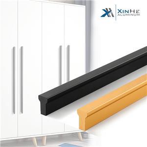 Kitchen Handles Door Cabinet Handle Black Aluminium Furniture Handle Kitchen Cabinet Door Handle Handles