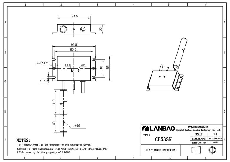 material level detecting sensor