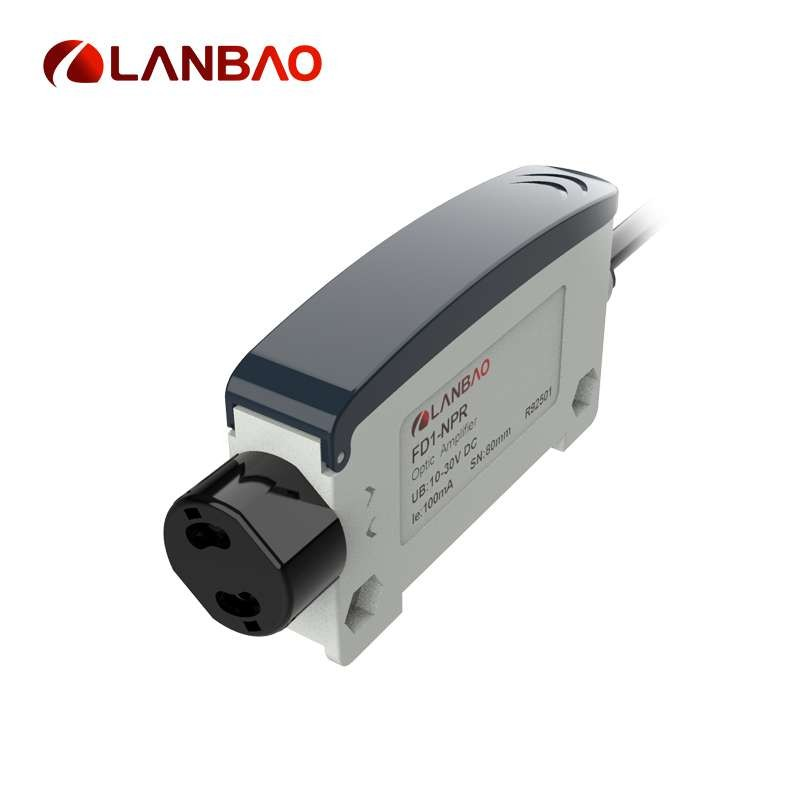 NPN NO/NC Amplifier Type Fiber Optic Sensor