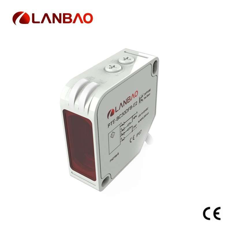 AC DC Output Square Diffuse Photoelectric Sensor
