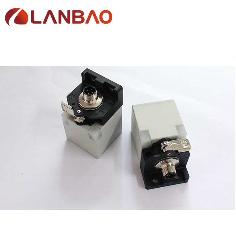 square inductive proximity sensor 10-60V DC NPN/PNP NO+NC M12 connector inductive sensor