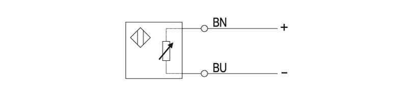 nick-copper position detection sensor