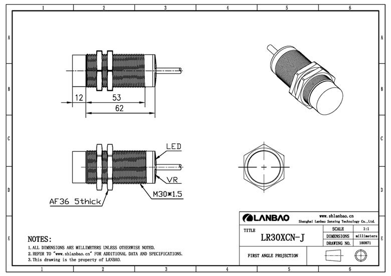 Supply 15mm Or 10mm Position Detection Sensor Nc M30