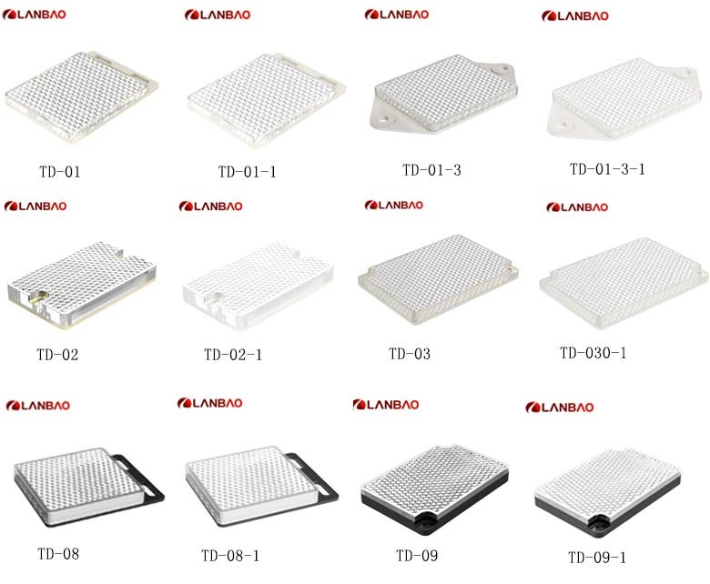 Square Photoelectric Sensor reflector width 55mm 54.5mm 40mm 57mm for reflection sensor