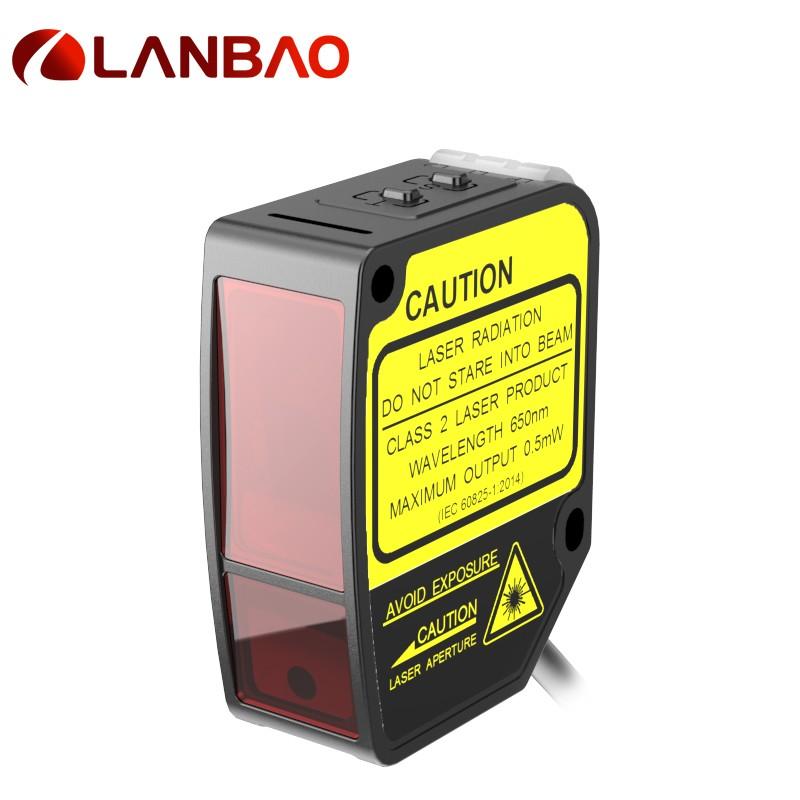 Plastic Laser Distance Measuring Sensor 10-30vdc 50mm Ip67 Laser Proximity Sensor