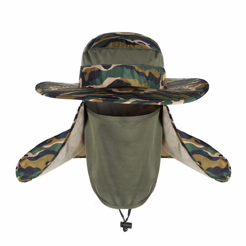 Waterproof Camouflage Fishing Hat With Neck Flap