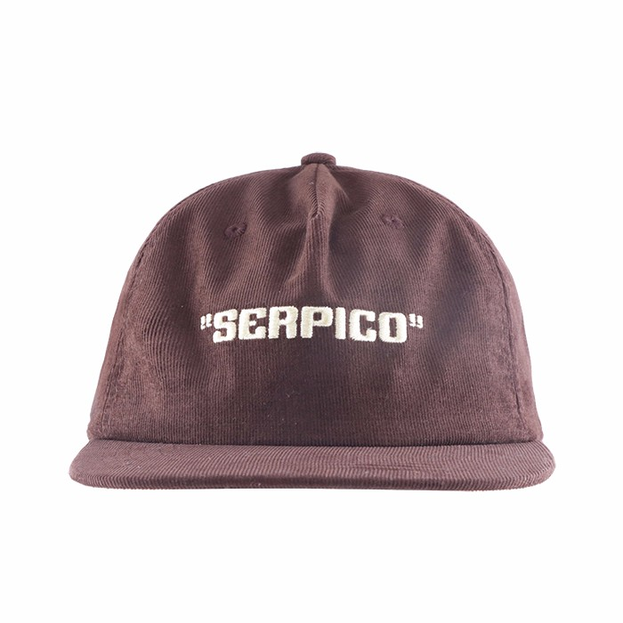 Brown Unstructured Corduroy 5 Panel Hat