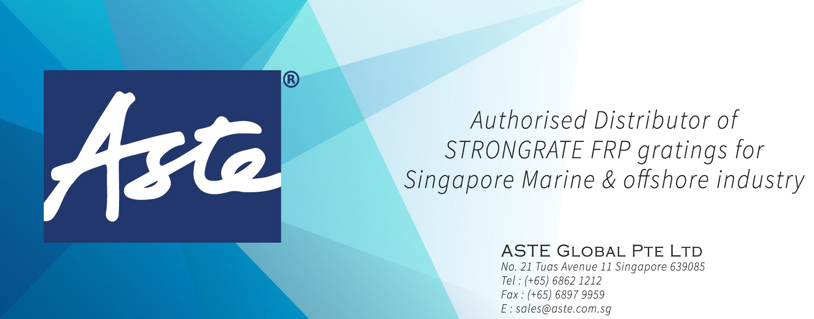 Authorized distributor of STRONGRATE® grating for Singapore Marine & Offshore markets