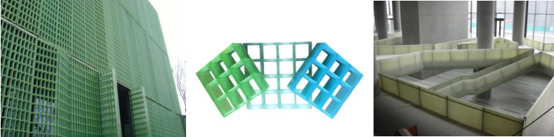 Transparent FRP Grating